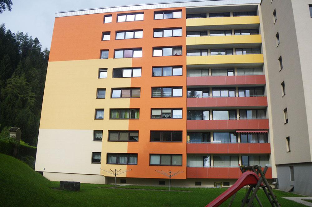 Fassadendämmung, Außenansicht Hochhaus, Baumeister Ing. Karl FriedrichSperr Judenburg