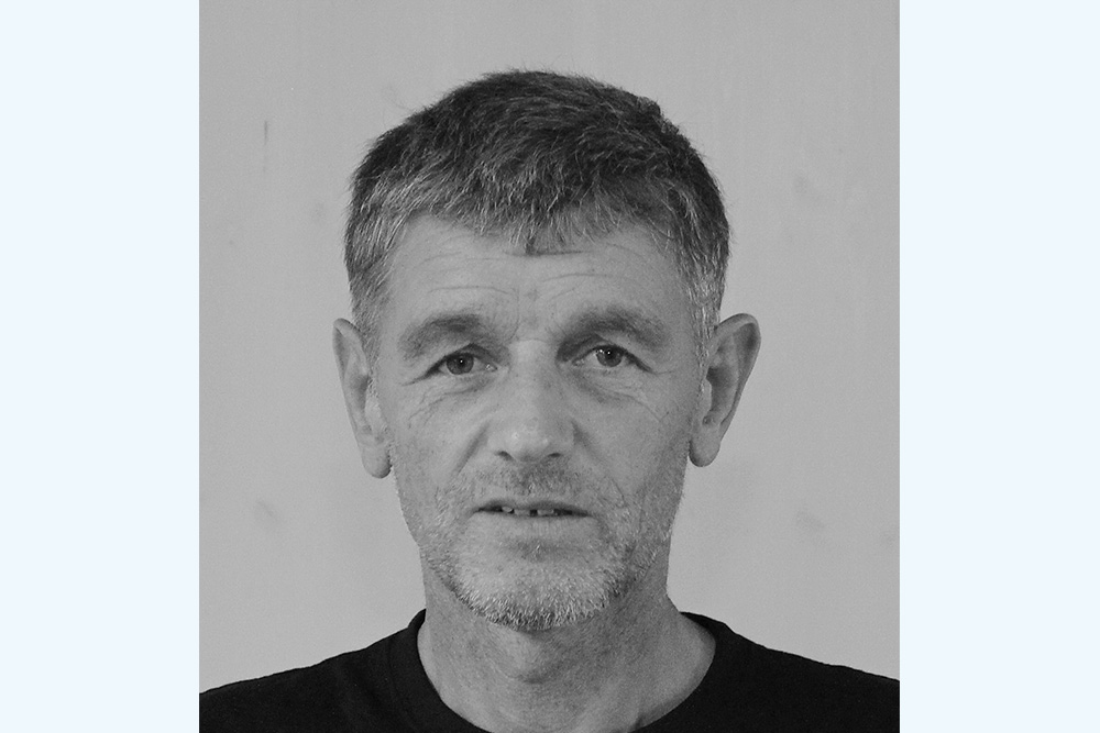 schwarz/weiß Bild, Profilfoto Klaus Lorenz