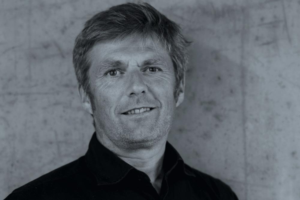 Schwarz/Weiß Foto Porträt Bruno Moser, Architekturwerkstatt