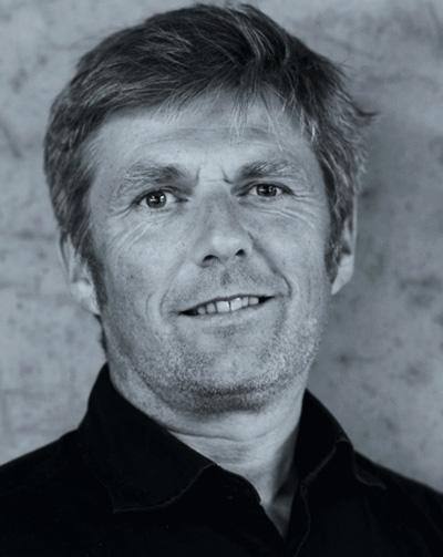 Profilbild Bruno Moser, schwarz/weiß
