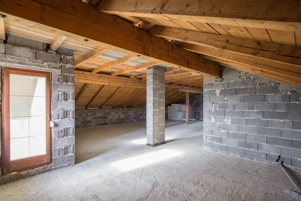 Dachgeschossausbau Foto Rohbau