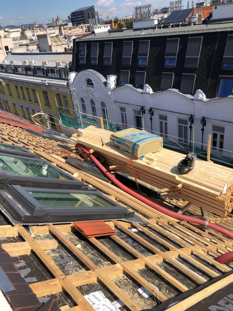 Foto Baustelle Dach